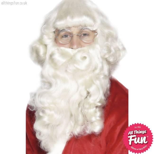 Smiffys Deluxe Santa Wig and Beard Set