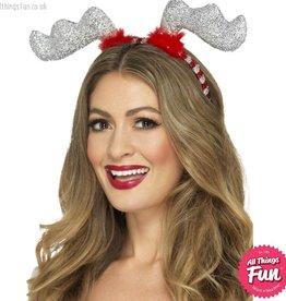 Smiffys Glitter Reindeer Antlers