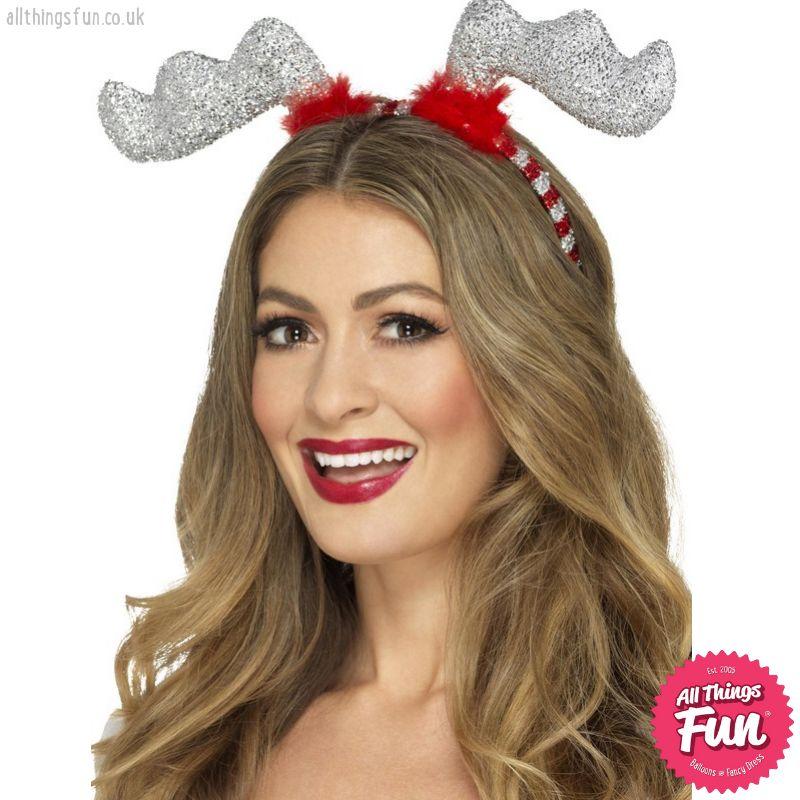Smiffys *DISC* Glitter Reindeer Antlers