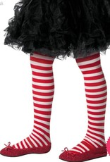 Smiffys Child's Red & White Striped Tights