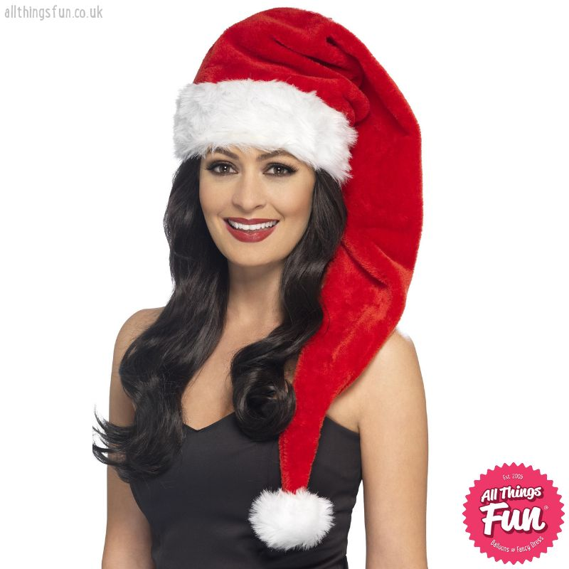 Smiffys Long Red Santa Hat
