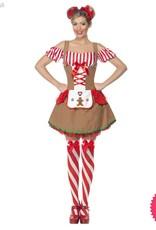 Smiffys *DISC* Gingerbread Woman Costume