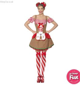 Smiffys *DISC* Gingerbread Woman Costume
