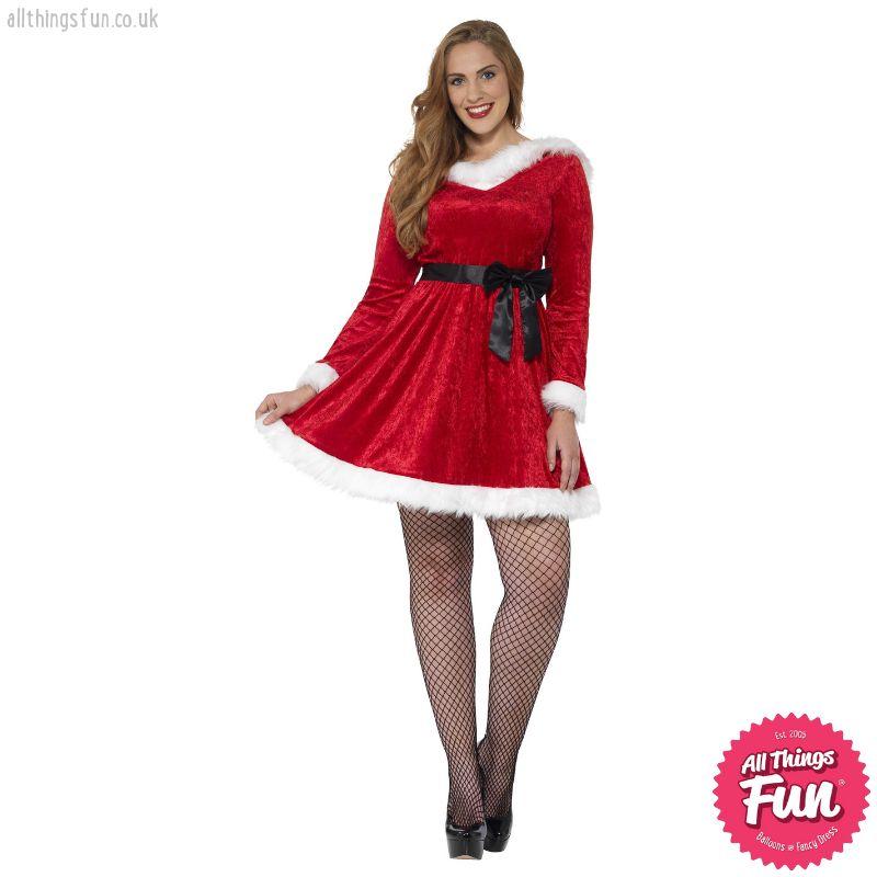 Smiffys Curves Miss Santa Costume