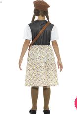 Smiffys Evacuee School Girl Costume