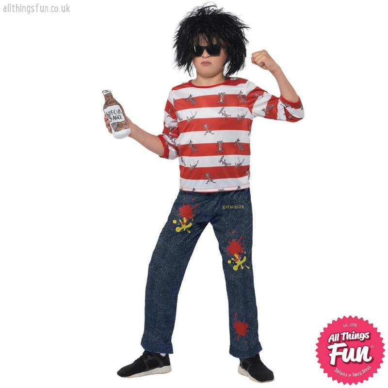 Smiffys David Walliams Deluxe Ratburger Costume
