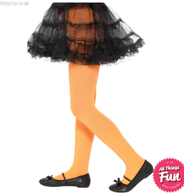 Smiffys Childs Orange Opaque Tights