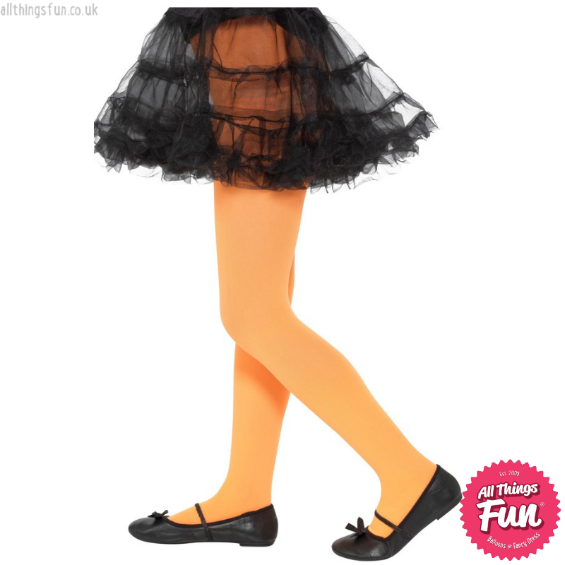 Smiffys Childs Orange Opaque Tights