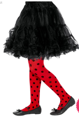 Smiffys Childs Ladybird Spot Tights, Age 8-12