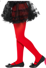 Smiffys Childs Red Opaque Tights