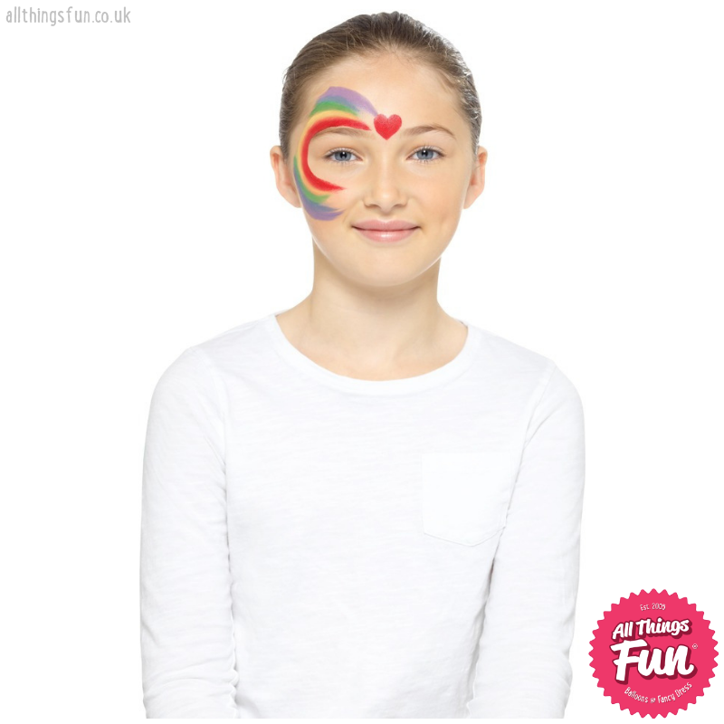 Smiffys Kids Rainbow Make Up Kit