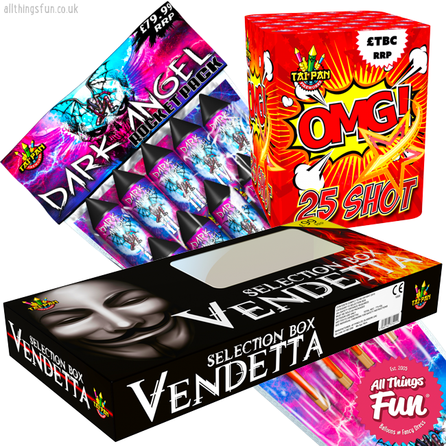 All Things Fun Firework Deal 5 - Ultimate Party - Vendetta, Dark Angel & OMG!