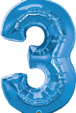 Pioneer Balloon Company Plain Foil - Number Three Sapphire Blue