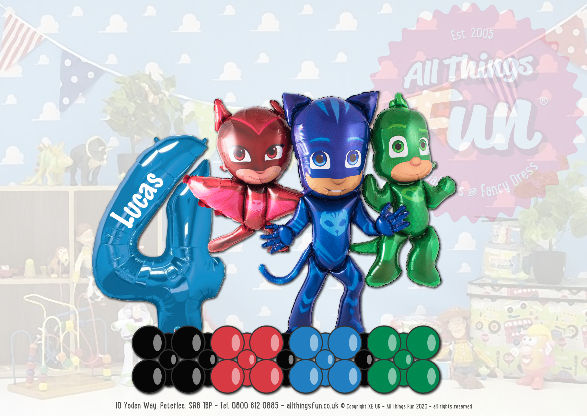 PJ Masks Awesome Balloon Design