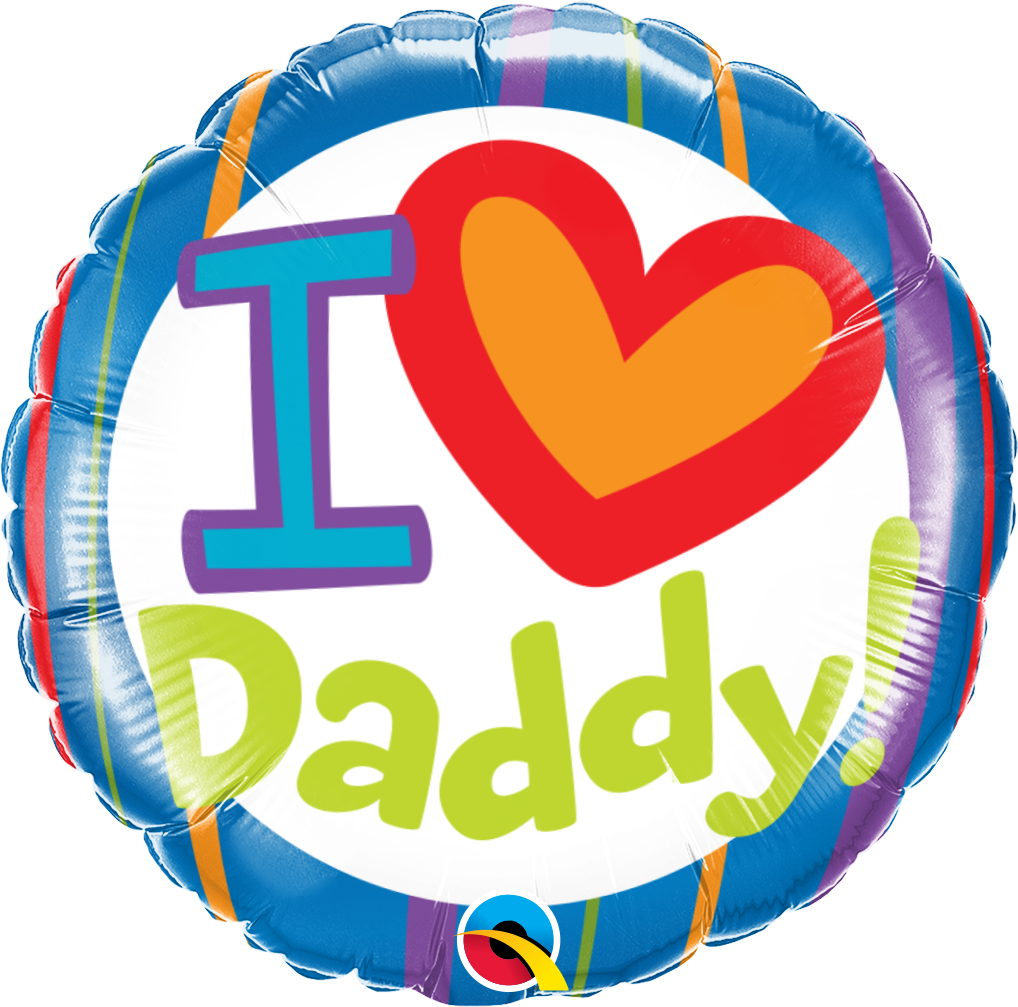 Pioneer Balloon Company Printed Foil - 18 inch Round - I (heart) Daddy!