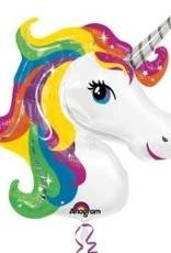 Printed Foil - Shape - Rainbow Unicorn Head