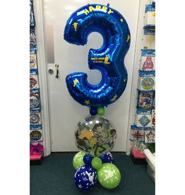 Personalised Bubble Number Design