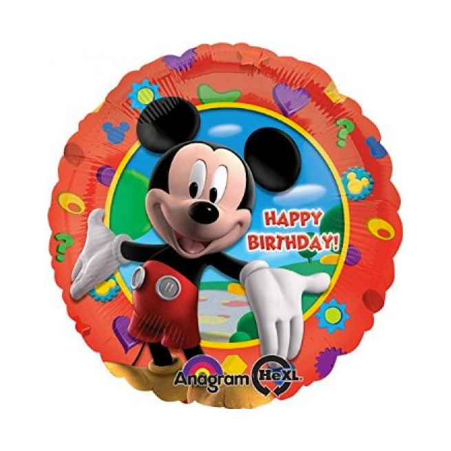 *DISC* Printed Foil - 18 Inch - Mickey Mouse Clubhouse Birthday