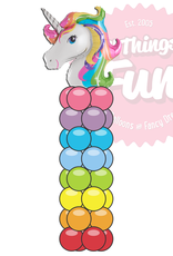 All Things Fun Garland Column with Unicorn Topper