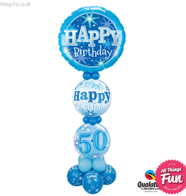 All Things Fun Blue Sparkle Age Birthday Giant Design