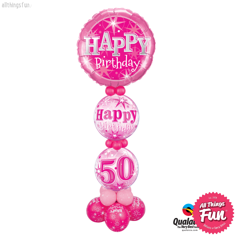 All Things Fun Pink Sparkle Age Birthday Giant Design