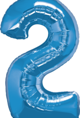 Pioneer Balloon Company Plain Foil - Number Two Sapphire Blue