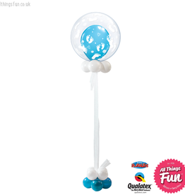 All Things Fun Blue Footprints Celebration Bubble Design