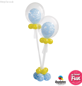 All Things Fun Twin New Baby Boy Celebration 24 Bubble Design