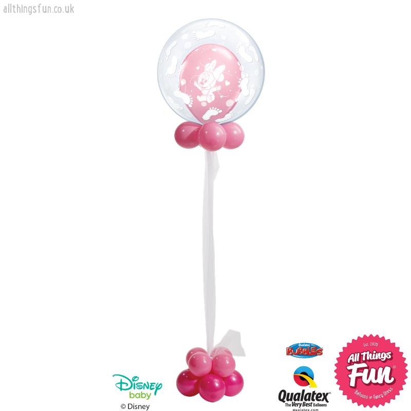 All Things Fun Disney Baby Minnie Celebration Bubble Design