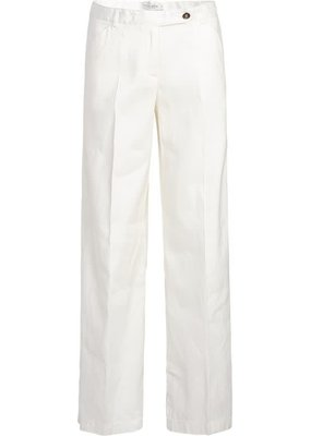 Summum Woman Trousers wide leg cotton linen stretch