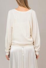 Summum Woman Sweater organic combed cotton batwing