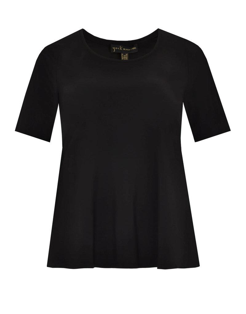 Yoek B4076 black yoek shirt