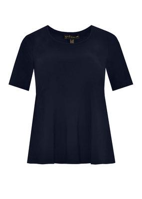 Yoek Shirt A-line navy Maat M 42/44
