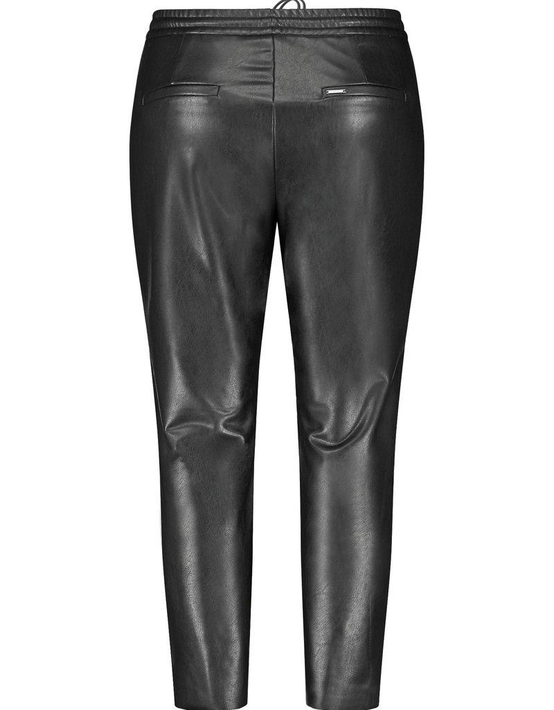Samoon 620001-21200 Broek leatherlook zwart Samoon