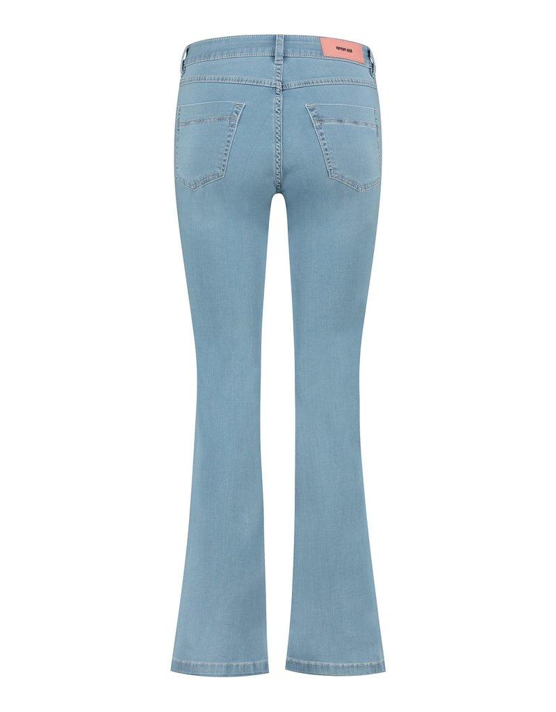 Para Mi SS211.004070 Satin Denim jeans jade mid sky blue Para mi