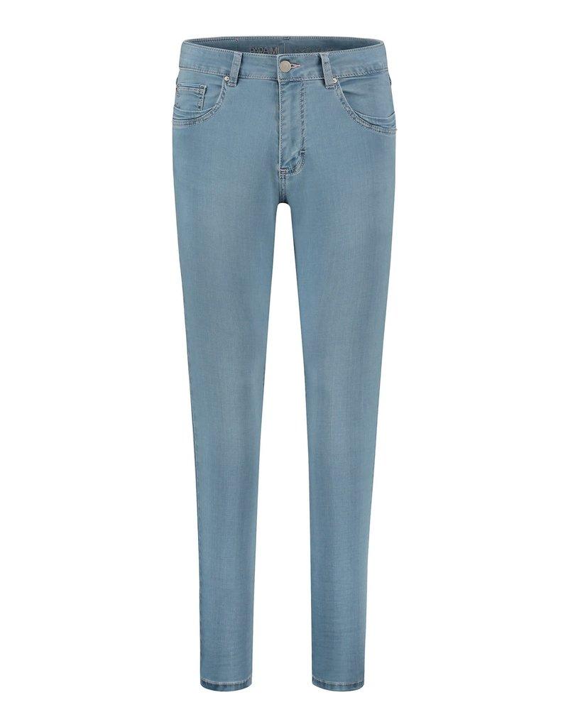 Para Mi SS211.004001 Satin Denim jeans celine mid sky blue Para mi
