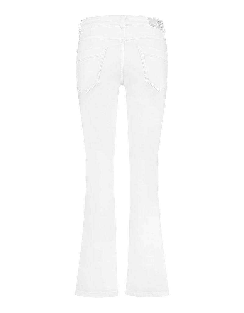 Para Mi SS211.005070 Color Denim broek Jade wit Para mi