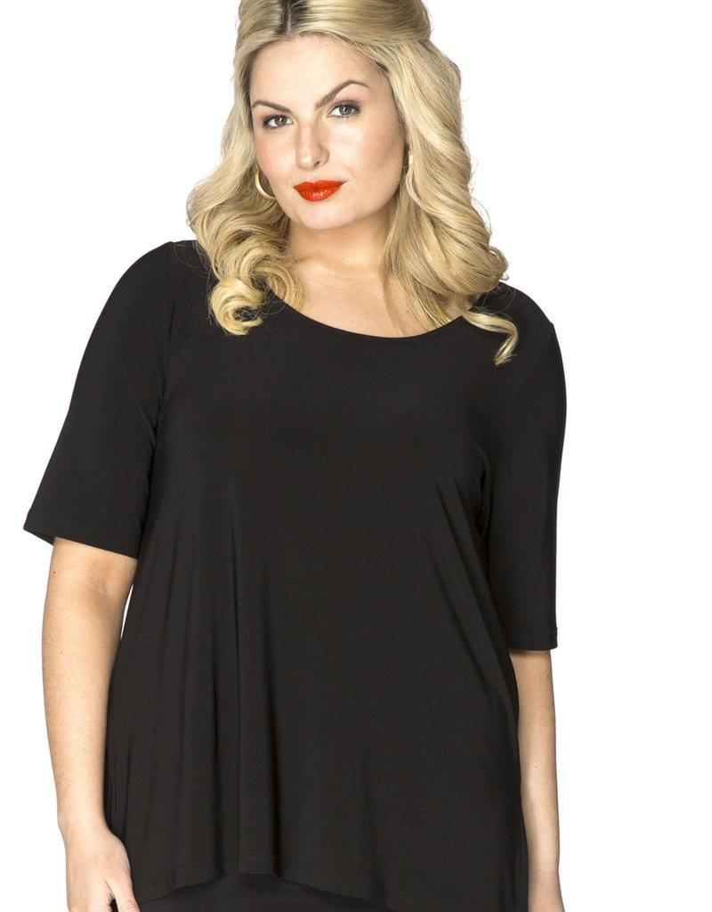 Yoek B4076 Shirt A-line zwart Yoek