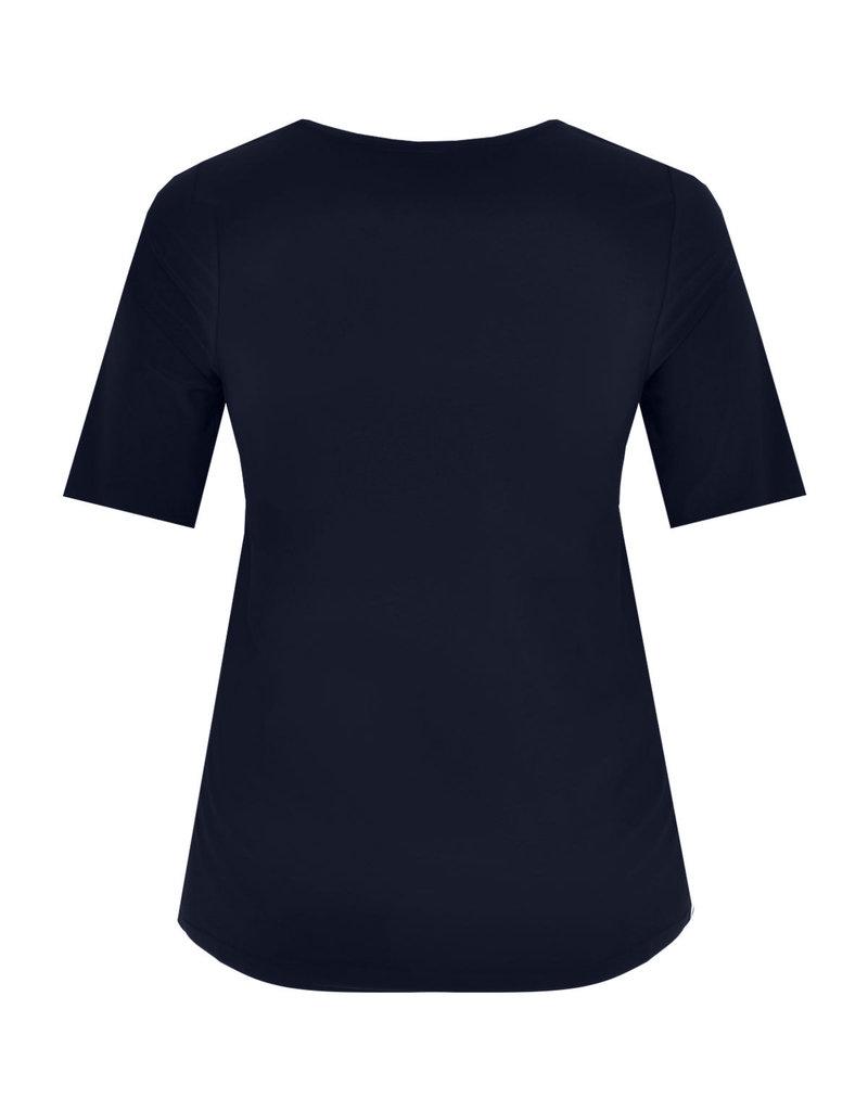 Yoek B4076 Shirt A-line Navy Yoek
