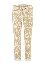 Para Mi SS211.133091 Safari Print broek Bobby camel Para mi