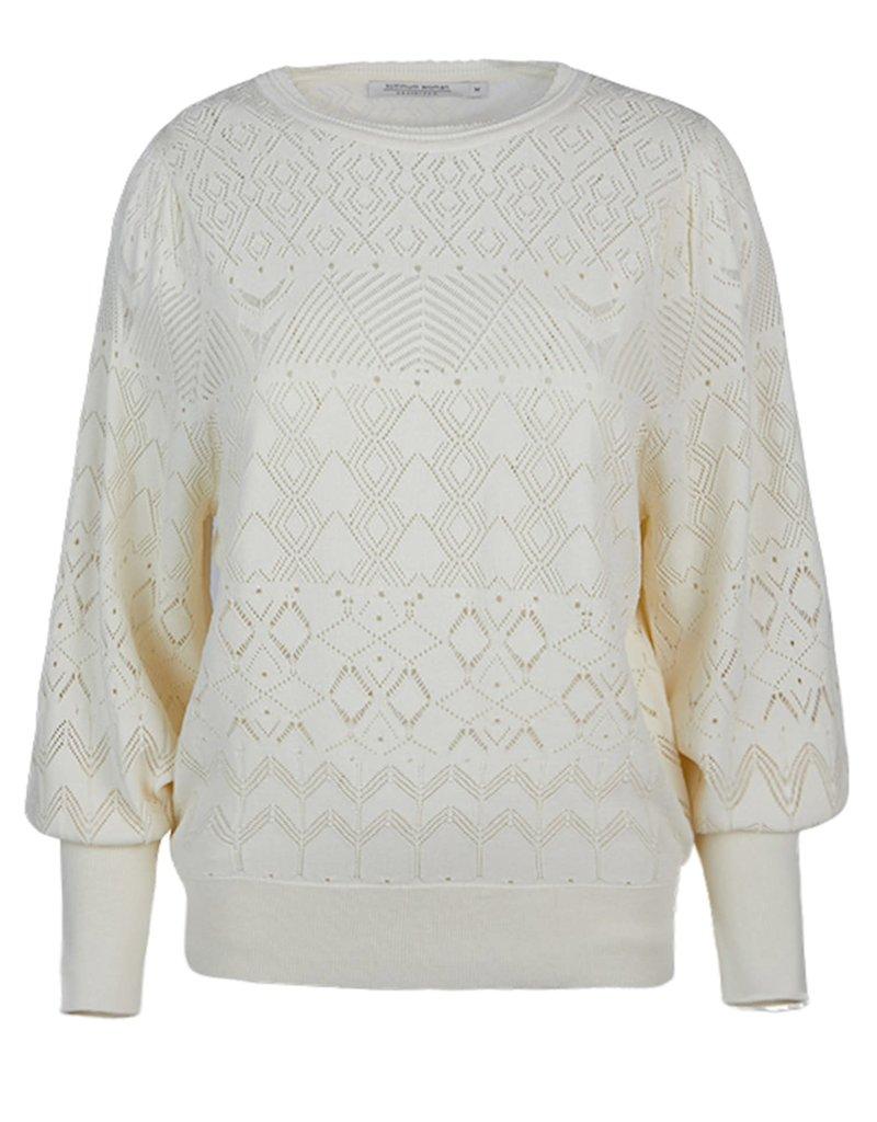 Summum Woman 7s5551-7806 Sweater ballonmouw ivoor Summum