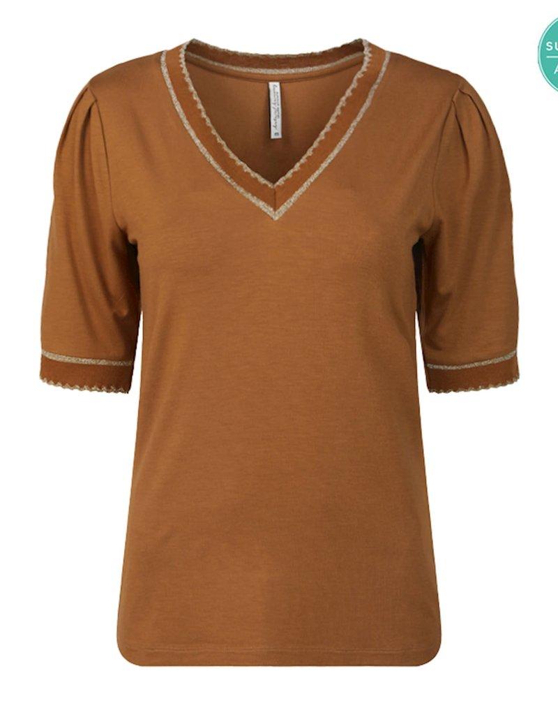Summum Woman 3s4492-30214 Top V-hals bruin Summum