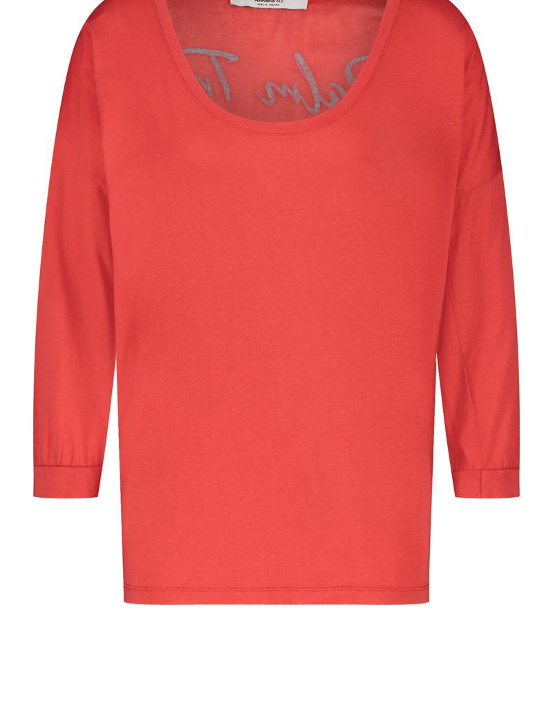 Penn&Ink N.Y t-shirt print S21F867 rood love penn&Ink