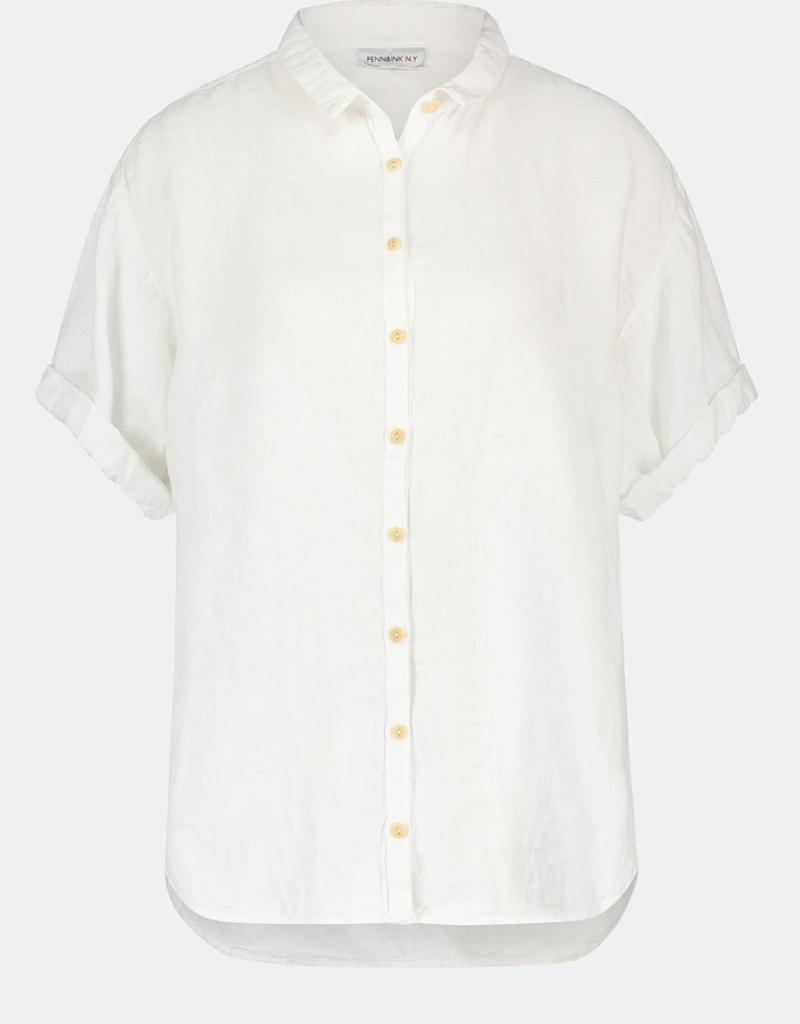 Penn&Ink N.Y blouse S21W318 linnen wit Penn&Ink