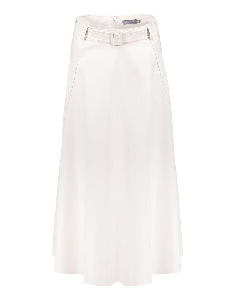 Geisha Skirt PU with strap at waist 16009-10 Beige Geisha