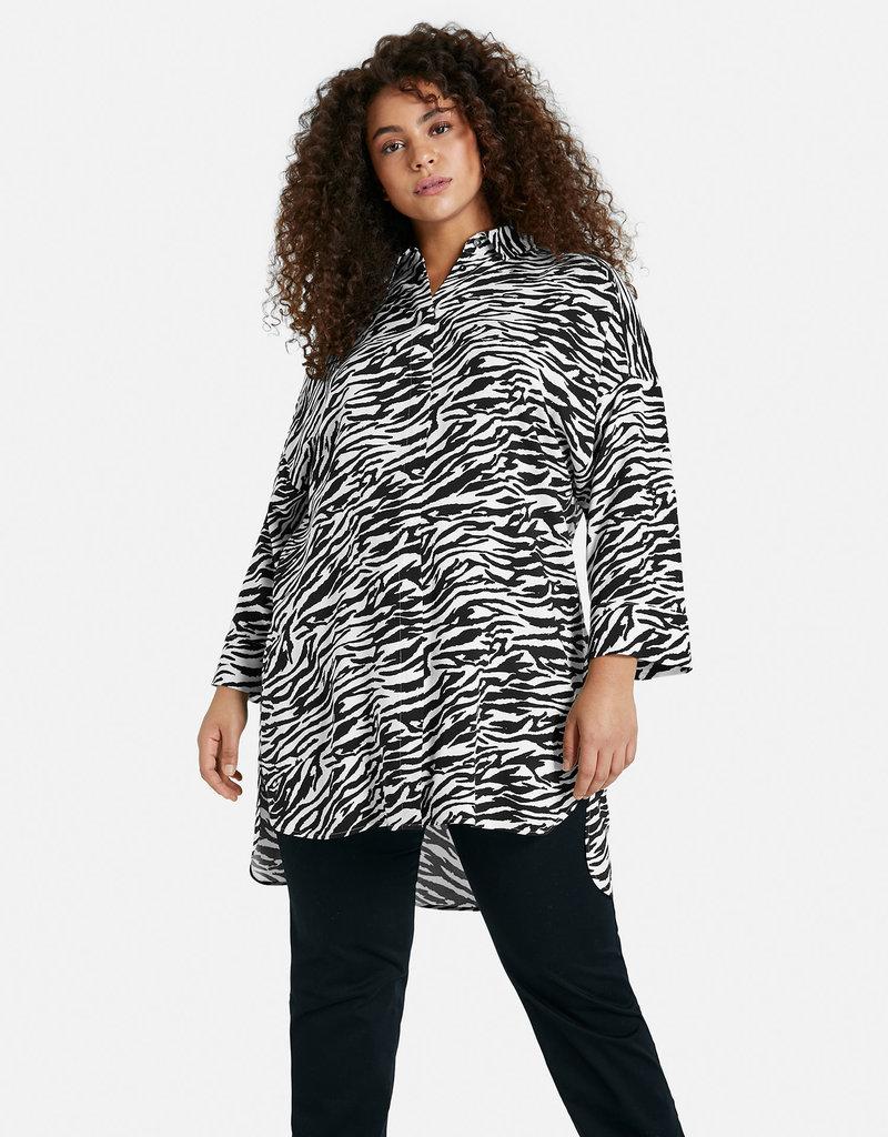 Samoon 660409-21018 Bouse zebraprint zwart/wit Samoon