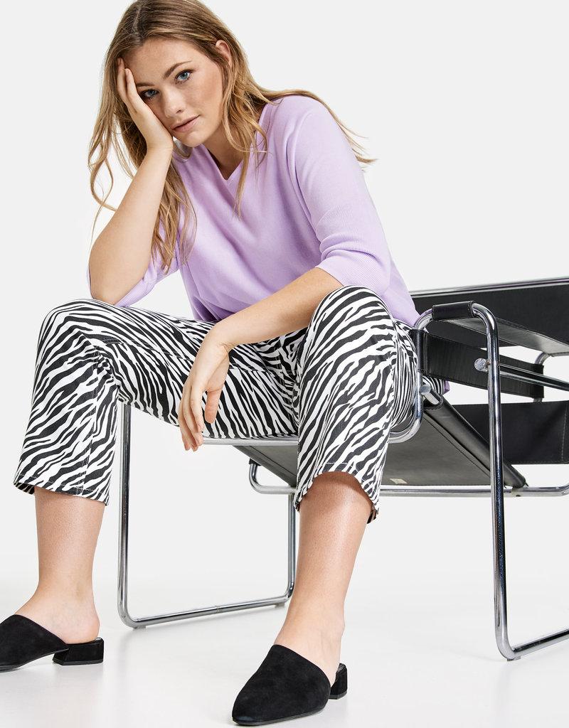 Samoon 620020-21218 Jeans zebraprint zwart/wit Samoon