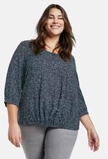 Samoon 660200-21006 blouse print  Blauw Samoon