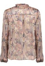 Geisha Top chiffon AOP paisleys 13198-20 Blauw Geisha