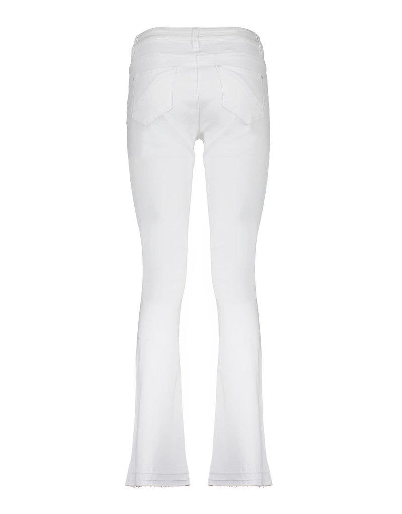 Geisha Jeans flair ragged bottom wit 11008-10 Geisha